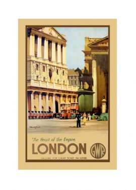 London Bank of England Railway Poster Print