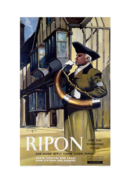 Print Ripon Wakeman Hornblower North Yorkshire