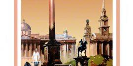 Trafalgar Square London Print Railway Poster