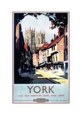 York Minster Petergate Print Railway Poster