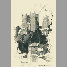 print Durham cathedral