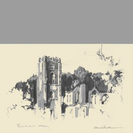 Print of Fountains Abbey