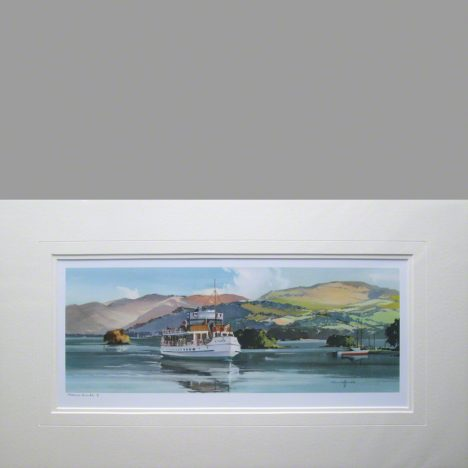 mounted print MV Swan Windermere