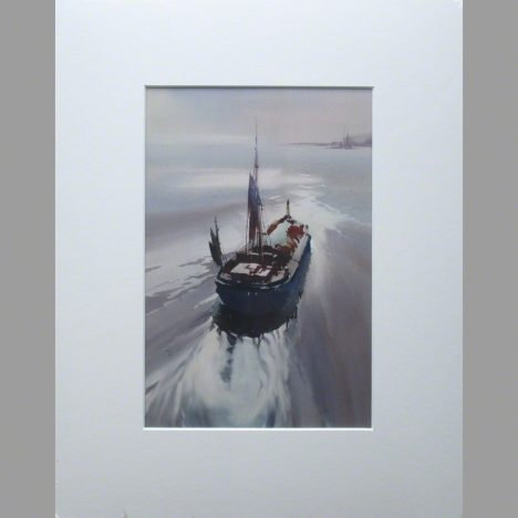 Mounted print of a Humber Keel Barge category image