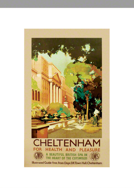 Cheltenham Railway Poster by Claude Buckle category