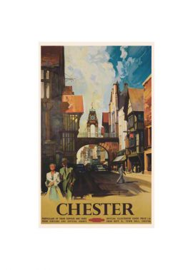 The Eastgate Clock Chester taken from Foregate Street by Claude Buckle