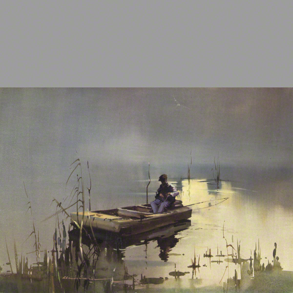 The water colour Early to Rise by Claude Buckle