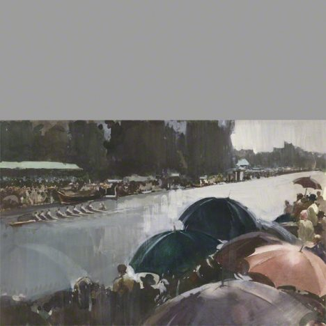 Henley on Thames boat race a water colour by Claude Buckle category