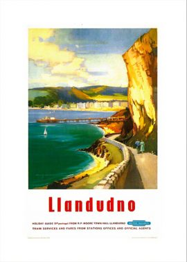 Railway Poster of Llandudno and the happy valley walk. From an oil painting by Claude Buckle category