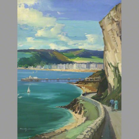 Llandudno and the happy valley walk an oil painting by Claude Buckle category