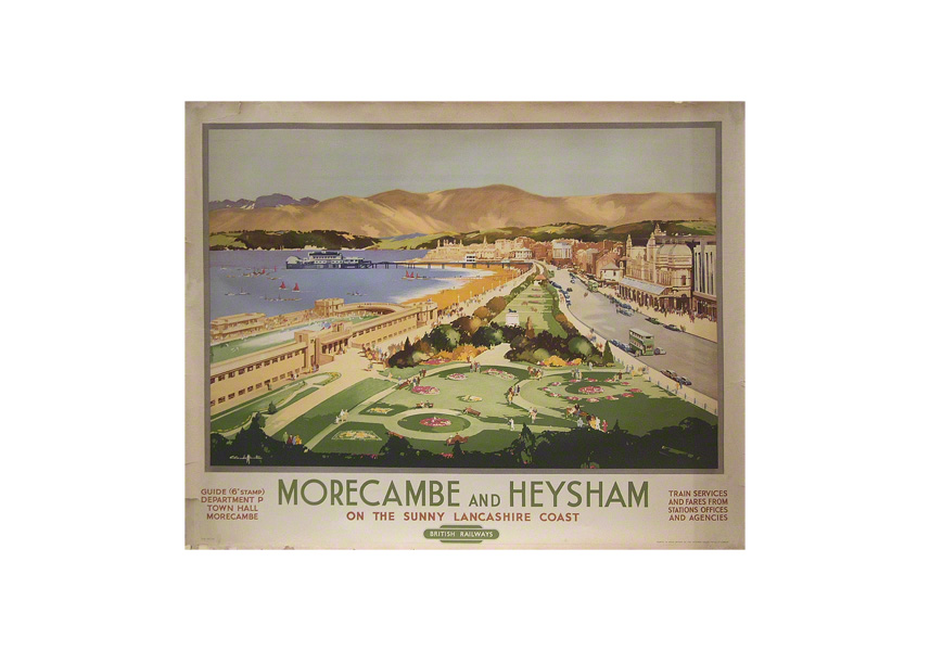 Morecambe and Heysham a railway poster by Claude Buckle