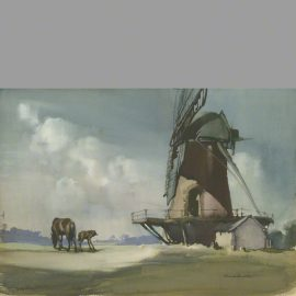 The Mill a water colour by Claude Buckle category