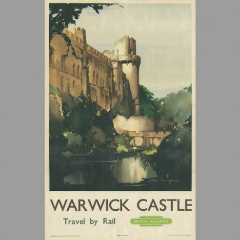 Warwick Castle is a medieval castle in Warwick, a water colour painting by Claude Buckle