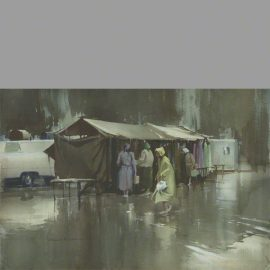 Wet Market Day category a water colour by Claude Buckle