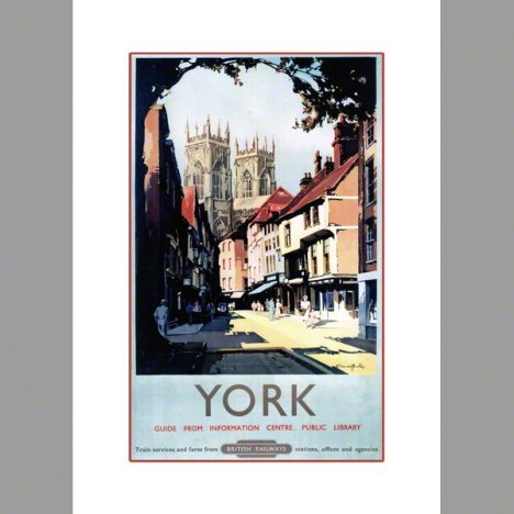 York Minster category railway poster by Claude Buckle