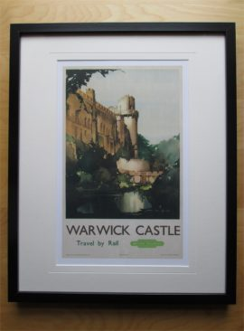How the Warwick Castle print looks in a IKEA frame 30 cms by 40 cms