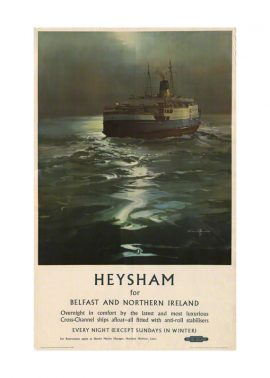 Print The Heysham Ferry T.S.S. Duke of Lancaster by Claude Buckle