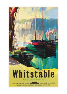 Whitstable railway poster by claude buckle