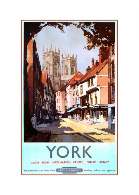 York Minster railway poster by Claude Buckle