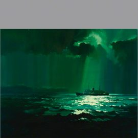 The original oil painting of Ireland Overnight by Claude Buckle