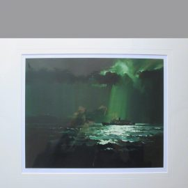 Mounted Print The original oil painting of Ireland Overnight by Claude Buckle