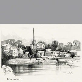 Ross-on-Wye by Claude Buckle and is taken from where the new bridge spans the river.