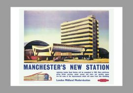 Manchester Picadilly Railway Station Poster